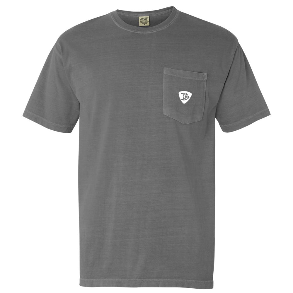 Blues Travel Comfort Colors Pocket T-Shirt (Unisex) - Grey