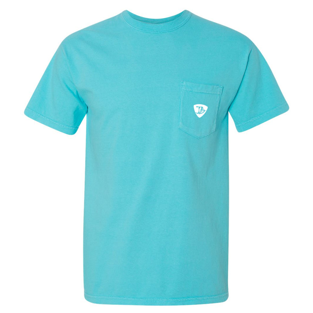 Bonamassa's Lounge Comfort Colors Pocket T-Shirt (Unisex) - Lagoon