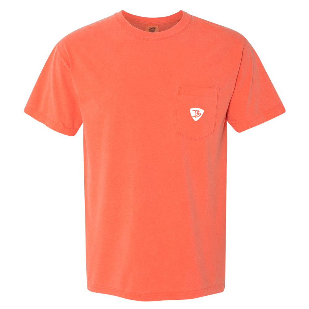 Bonamassa's Flying V Fish Comfort Colors Pocket T-Shirt (Unisex) - Salmon