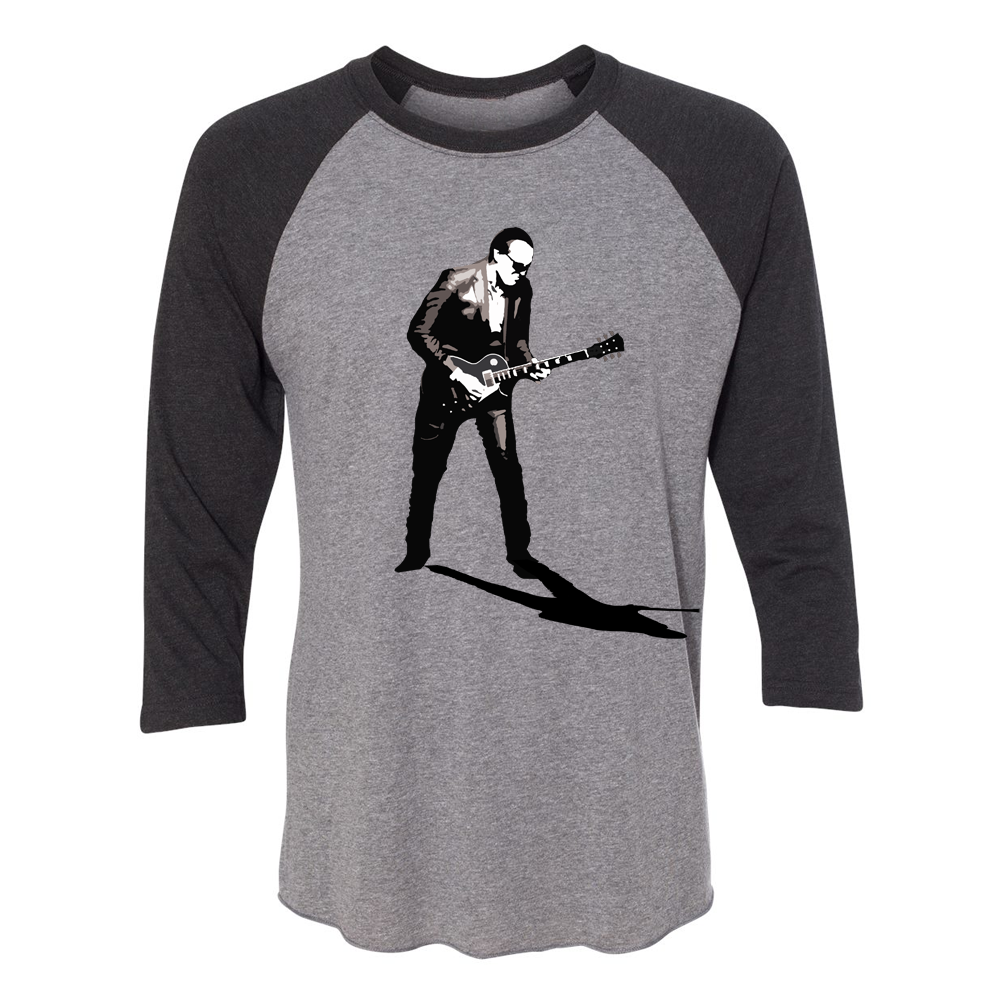 World Class Blues 3/4 Sleeve T-Shirt (Unisex) - Vintage Black/ Heather Grey