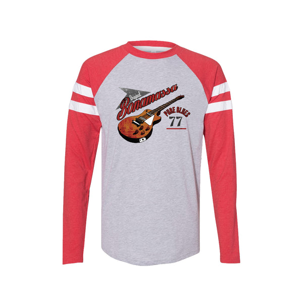Bona-Fide Blues Long Sleeve T-Shirt (Men) - Vintage Red