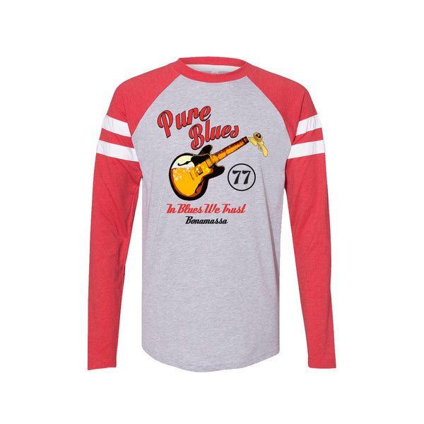 Brews & Blues Long Sleeve T-Shirt (Men) - Vintage Red