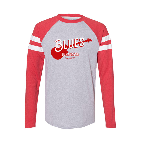 Certified Blues Long Sleeve T-Shirt (Men) - Vintage Red