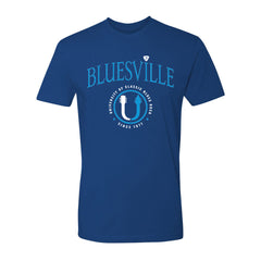 "Bluesville ""U"" Headstock Logo T-Shirt (Unisex) - Cool Blue"