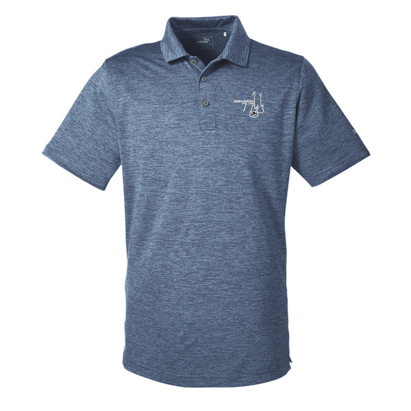 Bonamassa '77 Puma Golf Icon Heather Polo (Men) - Peacoat