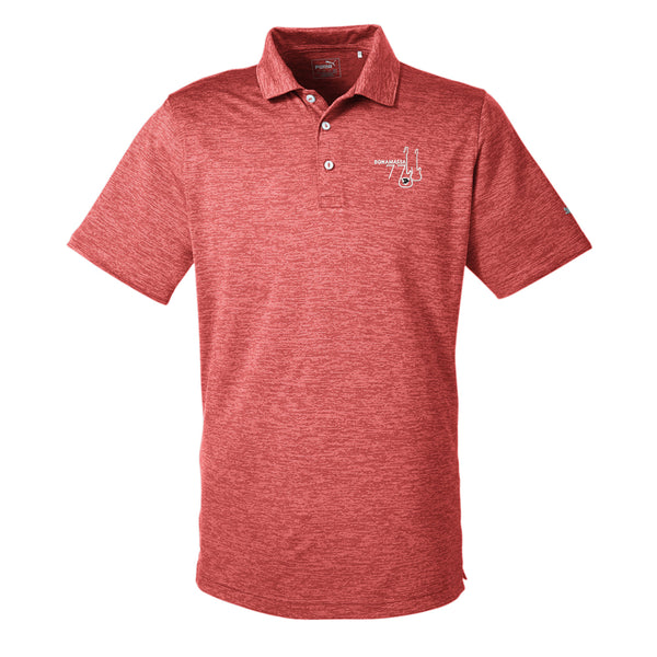 Bonamassa '77 Puma Golf Icon Heather Polo (Men) - Red