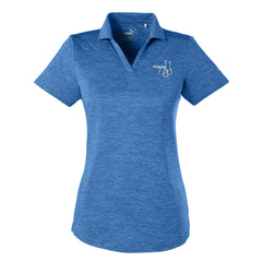 Bonamassa '77 Puma Icon Heather Golf Polo (Women) - Lapis