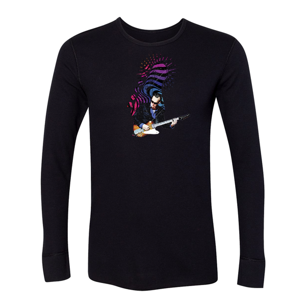 Trippy Headstock Long Sleeve Thermal (Unisex) - Black