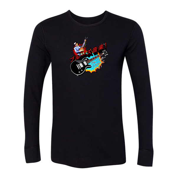 Blues Music Long Sleeve Thermal (Unisex) - Black