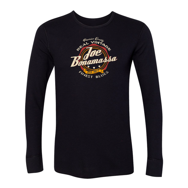 Finest Blues Long Sleeve Thermal (Unisex) - Black