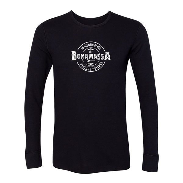 Authentic Blues Long Sleeve Thermal (Unisex) - Black