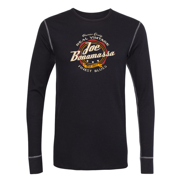Finest Blues Long Sleeve Thermal (Unisex) - Black/Grey