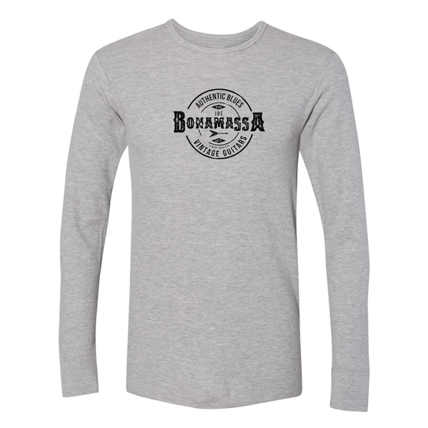 Authentic Blues Long Sleeve Thermal (Unisex) - Heather Grey