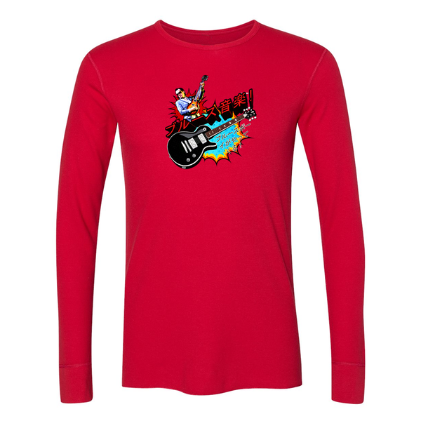 Blues Music Long Sleeve Thermal (Unisex) - Red