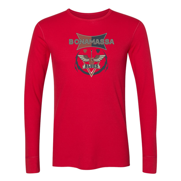 Blues Emblem Long Sleeve Thermal (Unisex) - Red