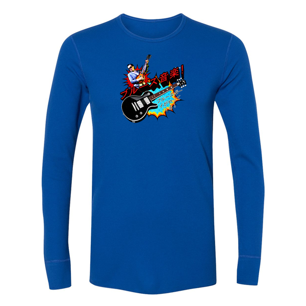 Blues Music Long Sleeve Thermal (Unisex) - Royal