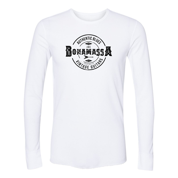 Authentic Blues Long Sleeve Thermal (Unisex) - White