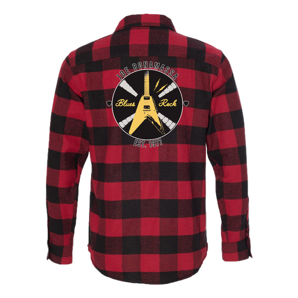 Electric Flying V Flannel Long Sleeve (Men) - Red