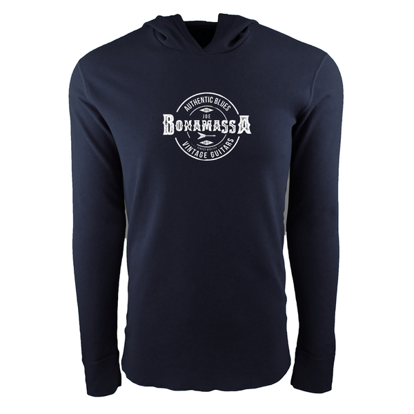 Authentic Blues Thermal Hoodie (Unisex) - Midnight Navy
