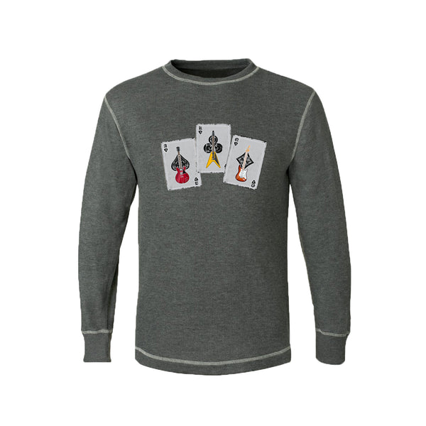 Deck of Blues Thermal (Unisex) - Charcoal