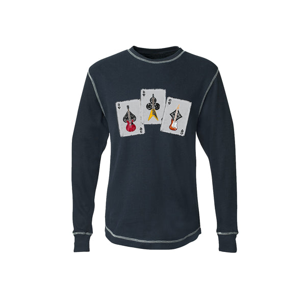 Deck of Blues Thermal (Unisex) - Vintage Navy