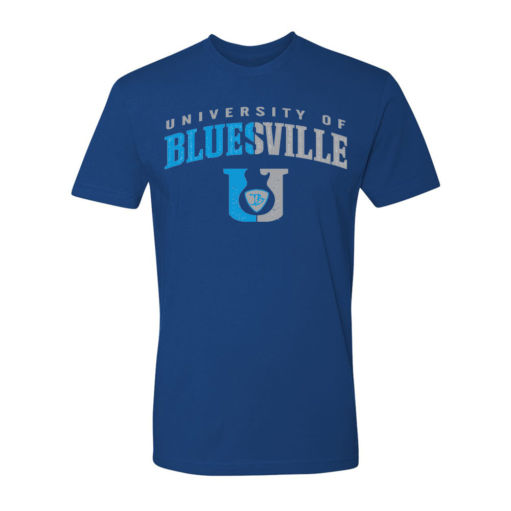 "Bluesville ""U"" Guitar Logo T-Shirt (Unisex) - Cool Blue"
