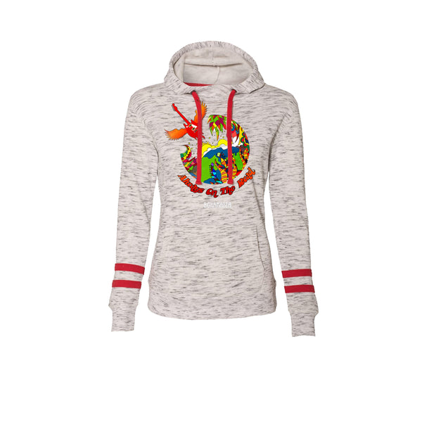 Blues Universe Hooded Sweatshirt (Women) - Red