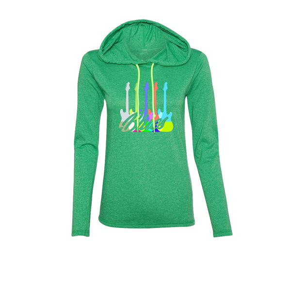 Chromatic Blues Hooded Long Sleeve (Women) - Heather Green