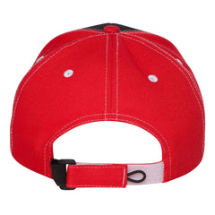 Always On The Road Tri-Color Hat - Black/Red