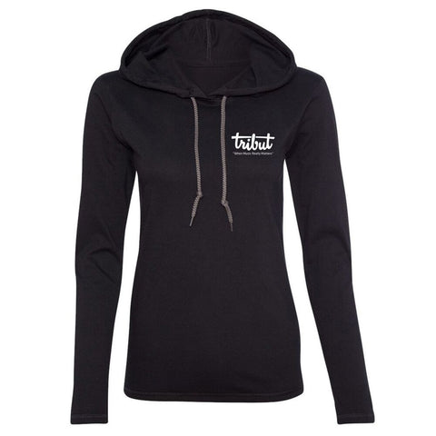 Tribut - Grey Acoustic Sunset Hooded Long Sleeve (Women)