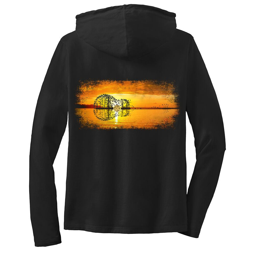 Tribut - Yellow Acoustic Sunset Hooded Long Sleeve (Women)