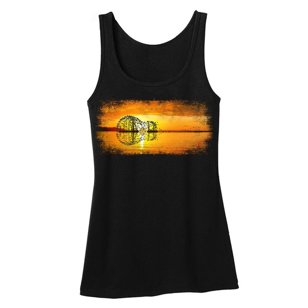 Tribut - Yellow Acoustic Sunset Tank (Women)