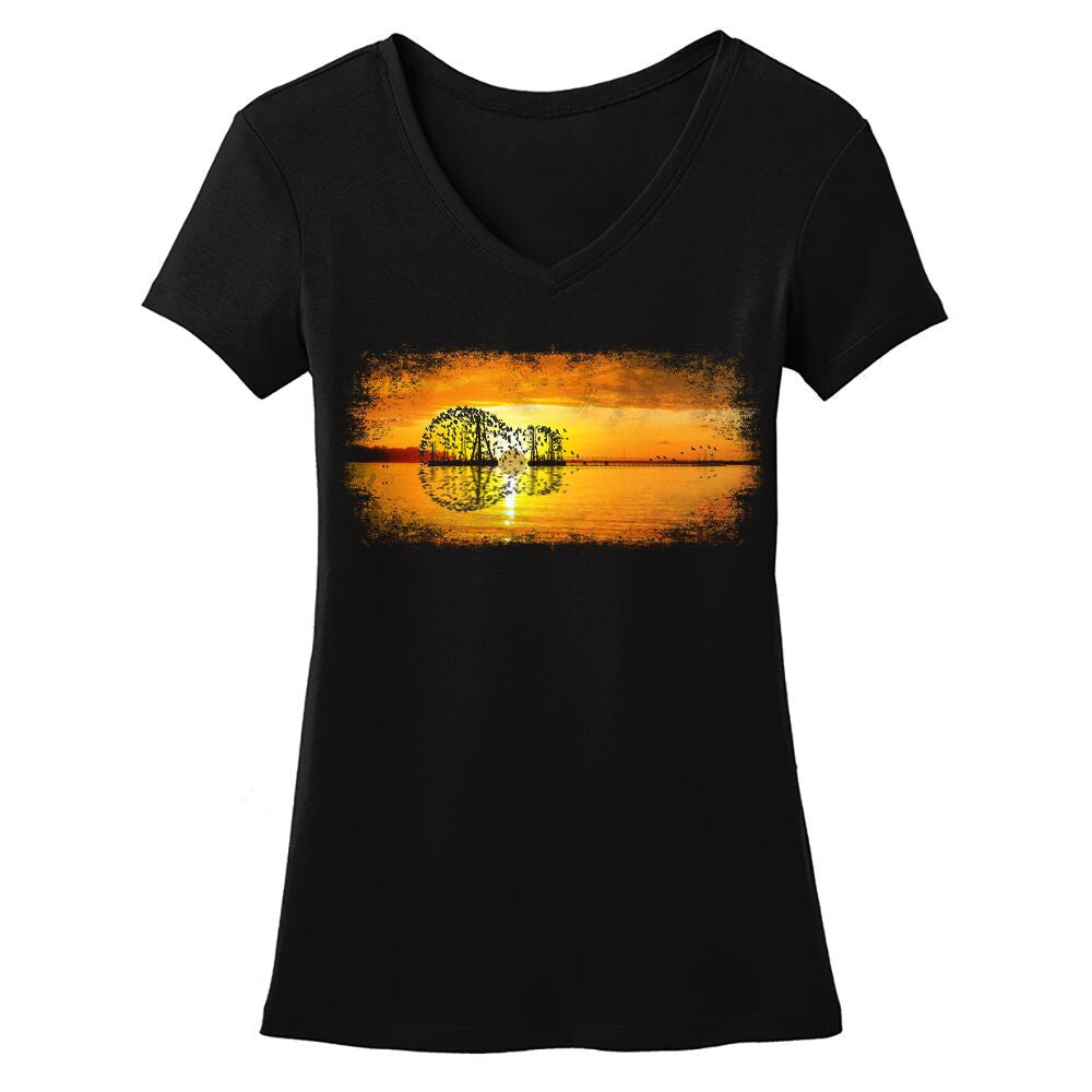 Tribut - Yellow Acoustic Sunset V-Neck (Women)