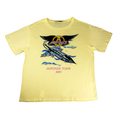 Aerosmith Summer Tour '85 Boyfriend T-Shirt - Buttercream