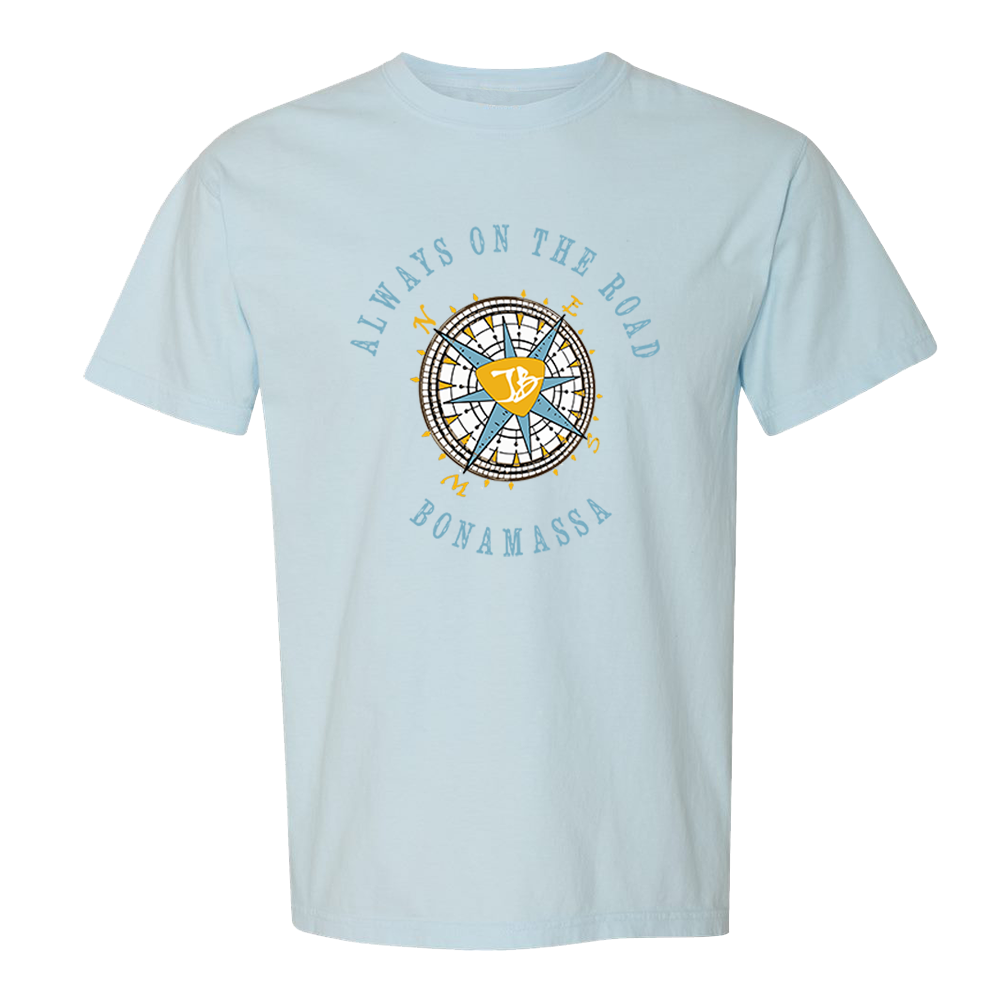 Always on the Road Compass T-Shirt (Unisex) - Chambray