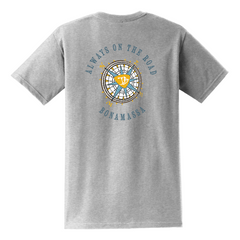 Always on the Road Compass Pocket T-Shirt (Unisex) - Ash