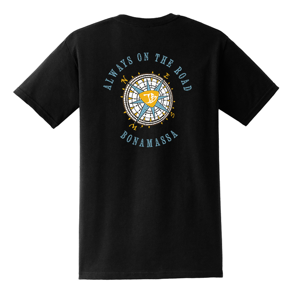 Always on the Road Compass Pocket T-Shirt (Unisex) - Black