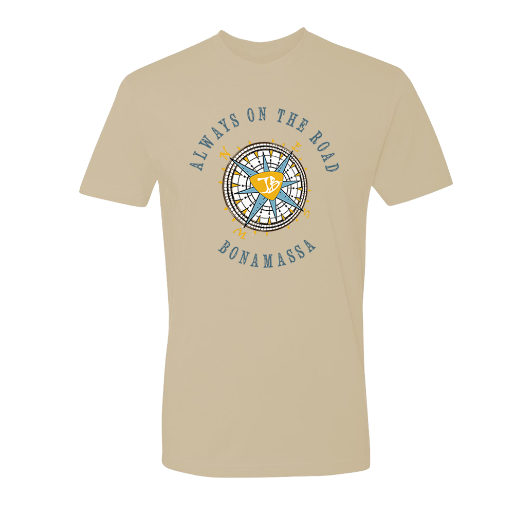 Always on the Road Compass T-Shirt (Unisex) - Sand