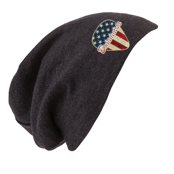American Style Slouch Beanie -  Charcoal Heather