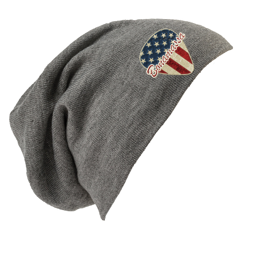 American Style Slouch Beanie -  Light Grey Heather