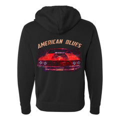American Blues Zip-Up Hoodie (Unisex) - Black
