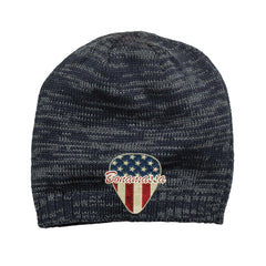 American Style Space Dyed Beanie - Navy/Charcoal