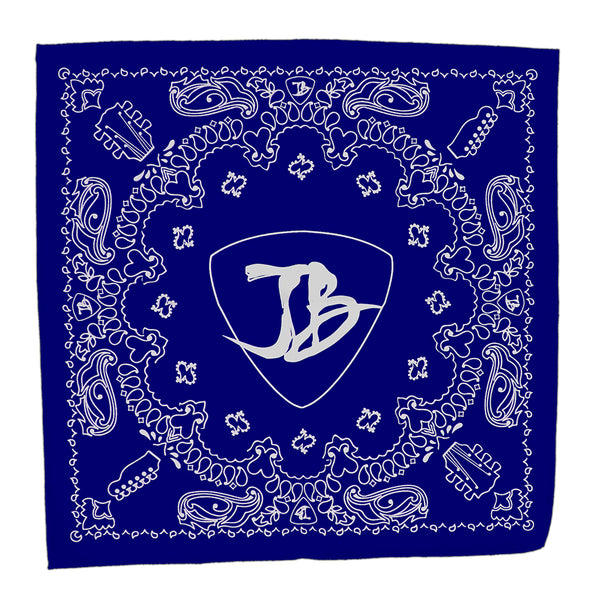 Headstock Bandana - Royal Blue/White