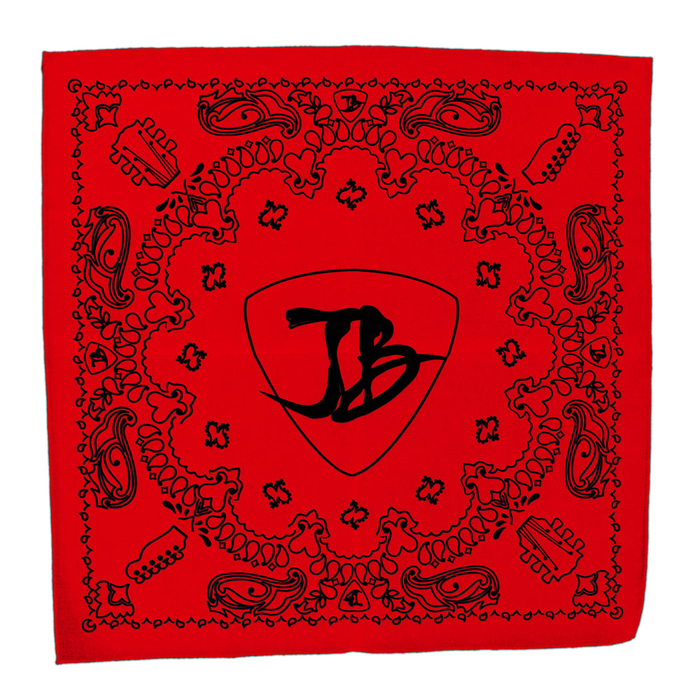 Headstock Bandana - Red/Black