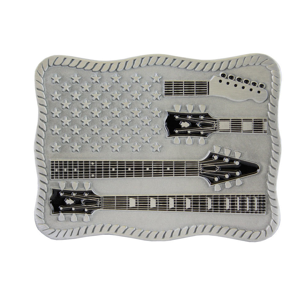 Stars & Guitars Belt Buckle