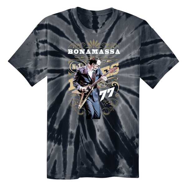 Blues Decades Deco T-Shirt Tie Dye T-Shirt (Unisex) - Black