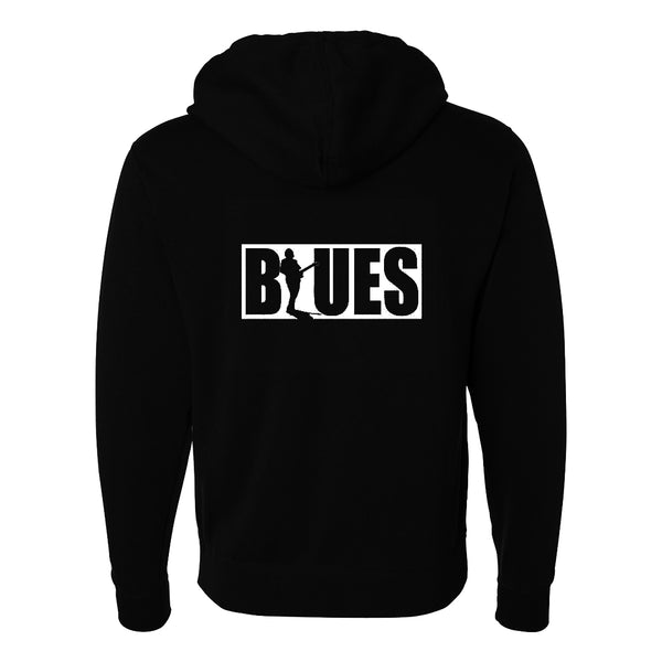 BLUES BLOCK Zip-Up Hoodie (Unisex)