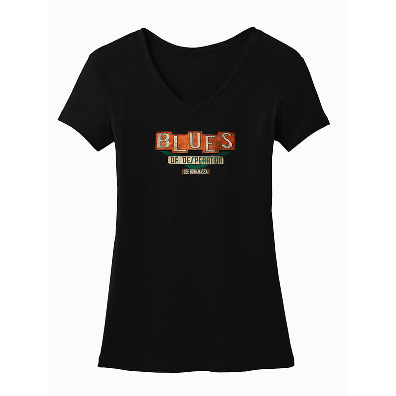 Blues of Desperation Logo V-Neck (Women)