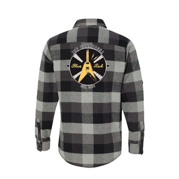 Electric Flying V Flannel Long Sleeve (Men) - Black