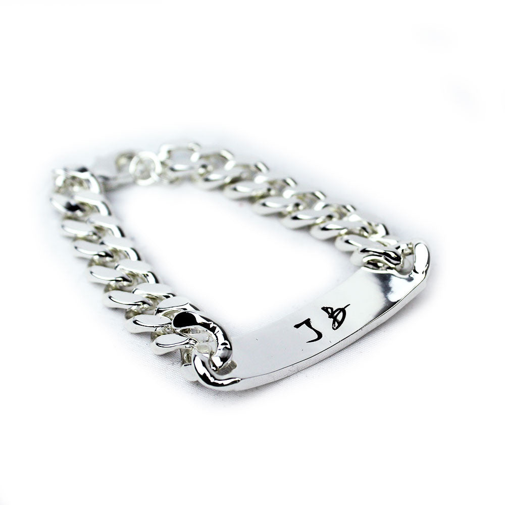 Guitar Logo ID Bracelet (Men)